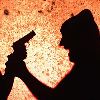 Close up of gun crime scene - TL000671