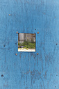 USA, New York, View of peephole in wooden fence - TLF000674