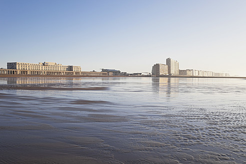 Belgium, View of Ostend beach and high rises - GWF001962