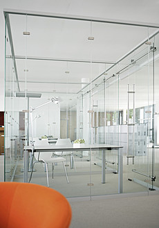 Germany, Modern office with glass walls - WBF001276