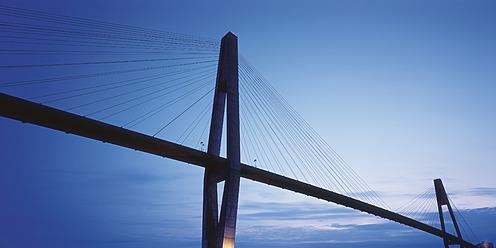 Canada, British Columbia, Vancouver, Modern bridge against sky - WBF001297