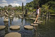 Indonesia, Tourist at Taman Tirtagangga - MBE000466