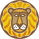 Astrological sign of lion on white background, close up - WBF001580