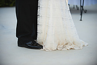 USA, Texas, Bride and groom standing - ABAF000246
