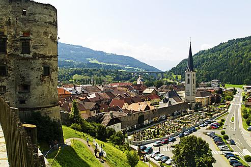Austria, Carinthia, View of Gmuend - EJWF000121