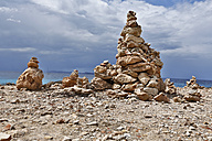 Spain, Mallorca, Stack of rocks at Cap de Ses Salines - MAEF004887