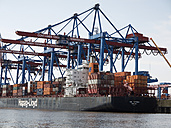 Germany, Hamburg, View of Container Terminal Altenwerder - BSC000159