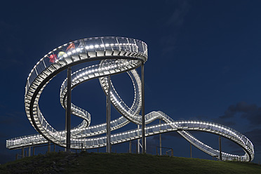 Germany, Duisburg, View of Tiger and Turtle art installation at Angerpark - HHEF000023