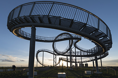 Germany, Duisburg, View of Tiger and Turtle art installation at Angerpark - HHEF000028