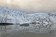 USA, Alaska, View of Matanuska Glacier mouth and Glacial Lake - FOF004375