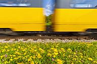 Germany, Baden Wuerttemberg, Stuttgart, Underground railway passing through track - WDF001292