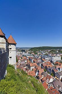Germany, Baden Wuerttemberg, View of Hellenstein Castle at Heidenheim an der Brenz - WDF001304