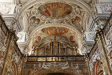 Austria, Upper Austria, Schlierbach, Interior of Collegiate Church - SIE002914