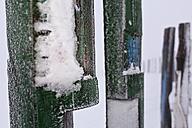 Germany, North Rhine Westphalia, Bottrop, View of Stockpile Haniel in winter - AKU000027