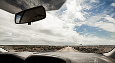 Portugal, View of road through car windscreen - WVF000243