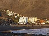 Spain, Beach in La Playa with La Calera at Canary Islands - SIEF003012