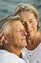 Spain, Senior couple at the sea - JKF000028