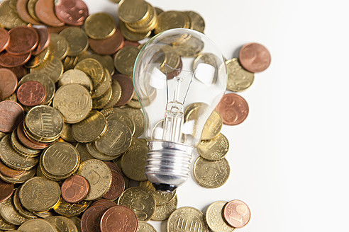 Light bulb and Euro coins - FLF000145
