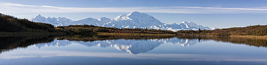 USA, Alaska, View of Mount McKinley and Alaska Range at Denali National Park - FOF004488
