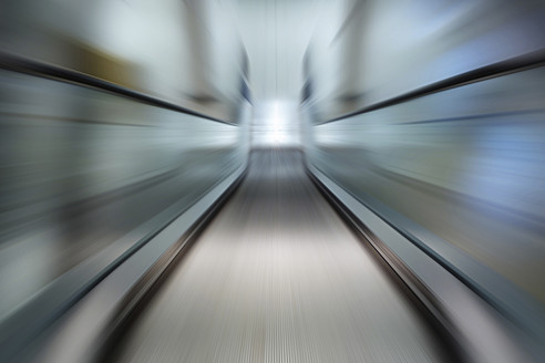 Germany, Berlin, View of escalator with zoom effect - HOHF000003