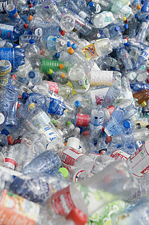 Germany, Empty plastic bottles recycling - ASF004702