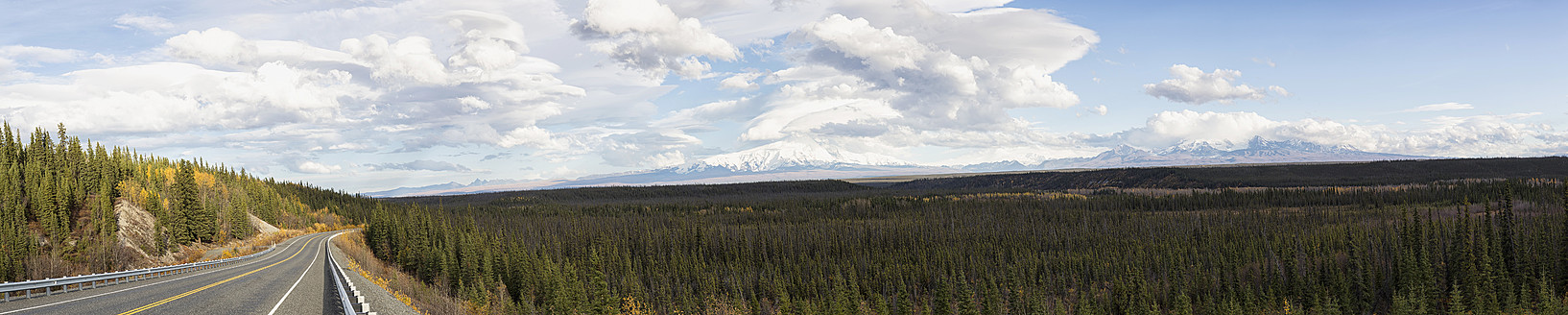 USA, Alaska, View of Mount Sanford and Mount Drum - FO004644