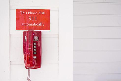 Designated red 911 emergency telehone - ABAF000622