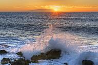 Spain, View of Hierro Island at sunset - SIE003111
