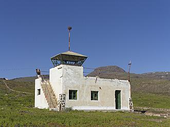 Spain, La Gomera, Old tower of airport at El Revolcadero - SIE003174
