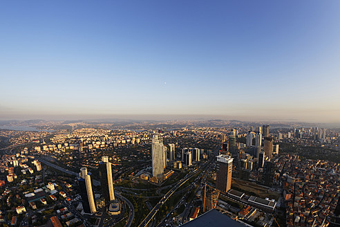 Europe, Turkey, Istanbul, View of financial district at Levent - SIE003205