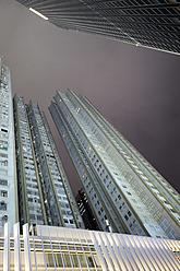 China, Hong Kong, Tower blocks in Wan Chai by night - MIZ000195