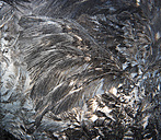 Austria, Window covered with  Ice crystal, close up - WWF002624