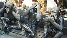 USA, California, San Francisco, Statues of monkeys at Chinatown - DJG000029