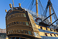 England, Hampshire, Portsmouth, View of HMS Victory - WD001471