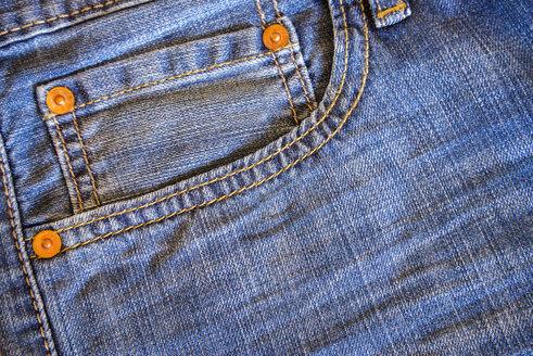 Denim jeans pocket, close up - ABAF000724