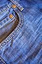 Denim jeans pocket, close up - ABAF000722
