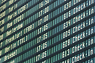 Germany, Arrival departure board at airport - TCF003324