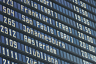 Germany, Arrival departure board at airport - TCF003325