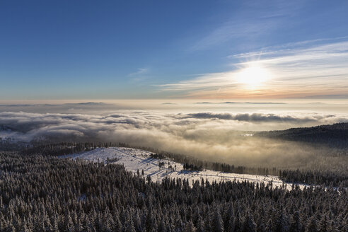 Germany, Bavaria, View from summit of Grosser Arber at Bavarian Forest - FOF004855