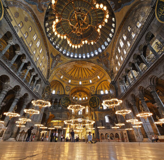 Turkey, Istanbul, Interior of Hagia Sophia - SIE003357