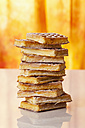 Wafers with icing sugar, close up - CSF017355
