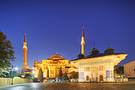 Turkey, Istanbul, View of Hagia Sophia and Fountain of Ahmed III - SIEF003366