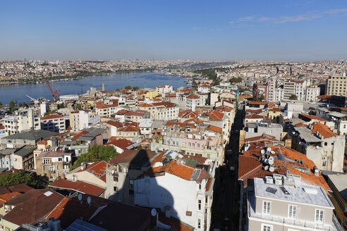 Turkey, Istanbul, View from Galata Tower to Golden Horn - SIEF003401