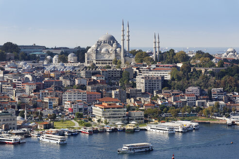 Turkey, Istanbul, View from Galata Tower and Suleymaniye Mosque - SIEF003415