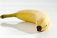 Banana on white background, close up - CSF017516