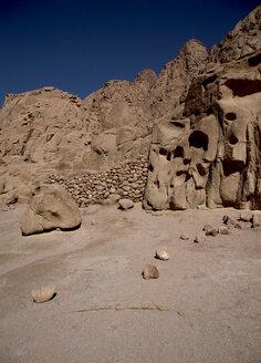 Egypt, View of desert sinai near St Katherine's Abbey - TK000088