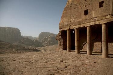 Jordan, Petra,View of historical village - TK000073