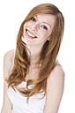 Portrait of young woman smiling, close up - MAEF006132