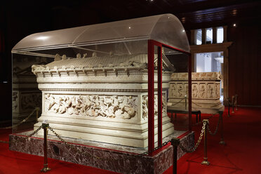 Turkey, Istanbul, Interior of Alexander Sarcophagus - SIE003512