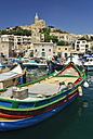 Malta, Fishing boats in harbour of Mgarr - MIZ000248
